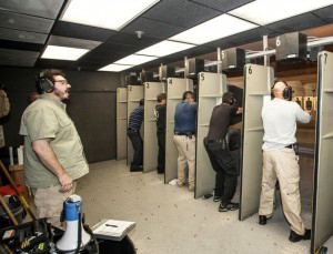 men in shooting range